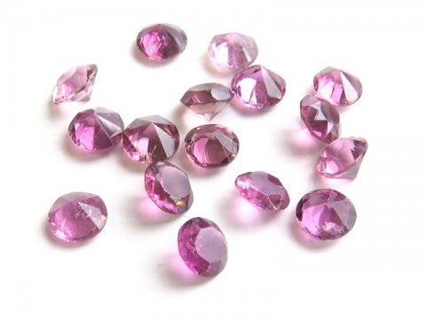 Pink Tourmaline Faceted Round ~ Various Sizes