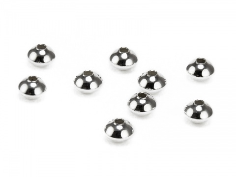 Sterling Silver Saucer Bead 4.5mm ~ Pack of 10
