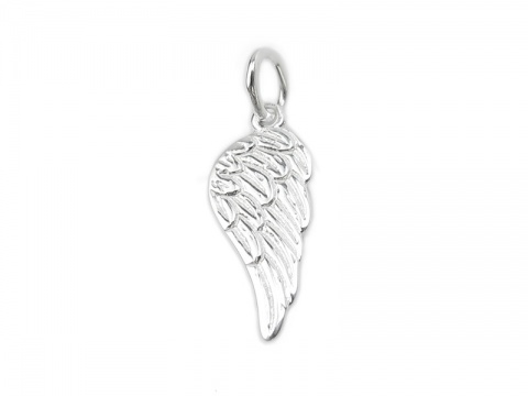 Sterling Silver Angel Wing Pendant 16mm