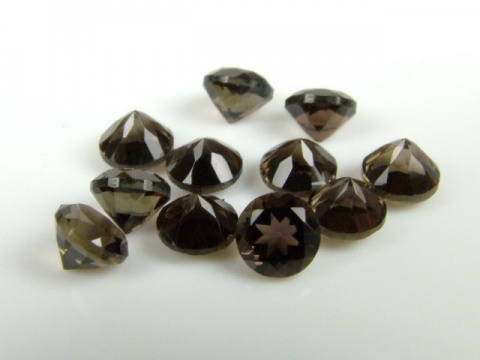 Smoky Quartz Faceted Round ~ Various Sizes