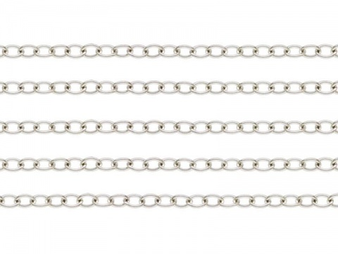 Sterling Silver Cable Chain 2.5 x 1.8mm ~ Offcuts