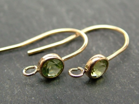 Gold Filled Peridot Ear Wire ~ PAIR