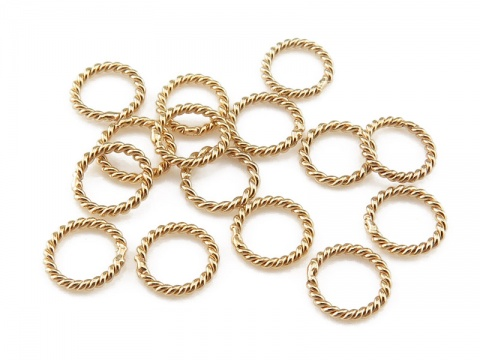 Gold Filled Twisted Closed Jump Ring 5mm ~ Pack of 10
