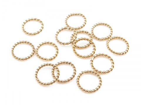 Gold Filled Twisted Closed Jump Ring 6mm ~ Pack of 10