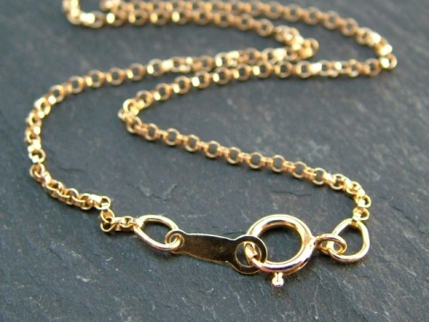 Gold Filled Rolo Chain Necklace with Spring Clasp ~ 16''