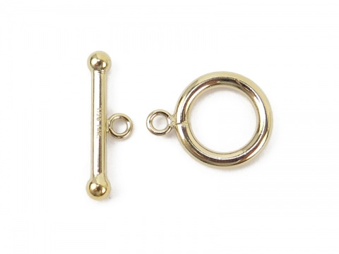 Gold Filled Toggle and Bar Fastener 12mm