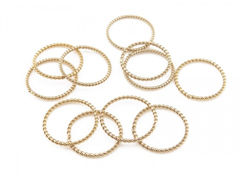Gold Filled Twisted Closed Jump Ring 10mm