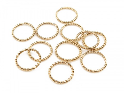 Gold Filled Twisted Closed Jump Ring 7mm