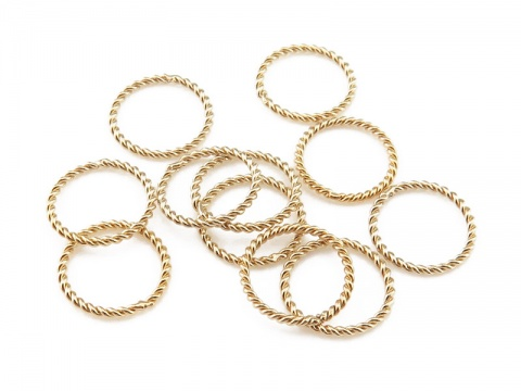 Gold Filled Twisted Closed Jump Ring 8mm