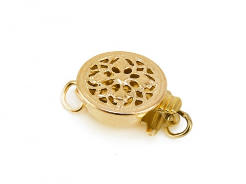 Gold Filled Filigree Round Clasp 9mm