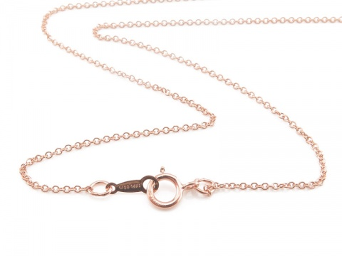 Rose Gold Filled Fine Cable Chain Necklace with Spring Clasp ~ 16''