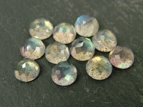 Labradorite Rose Cut Round Cabochon ~ Various Sizes