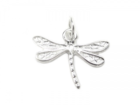 Sterling Silver Dragonfly Pendant 16mm