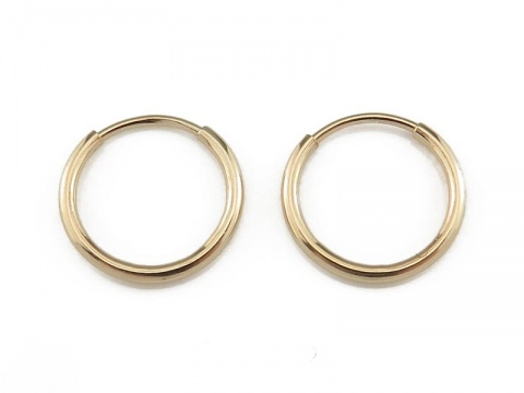 Gold Filled Earring Hoop 12mm ~ PAIR