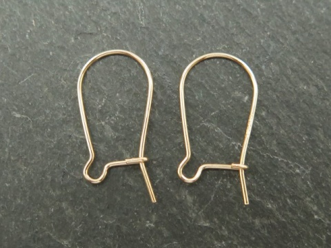 Gold Filled Kidney Ear Wire 16mm ~ PAIR