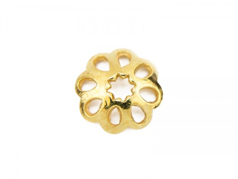 Gold Vermeil Flower Bead Cap 6mm