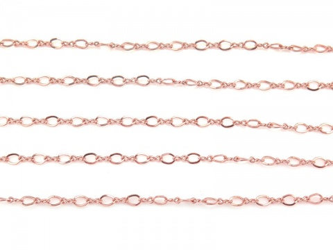 Rose Gold Filled Curb Chain 2mm x 1.5mm ~ Offcuts