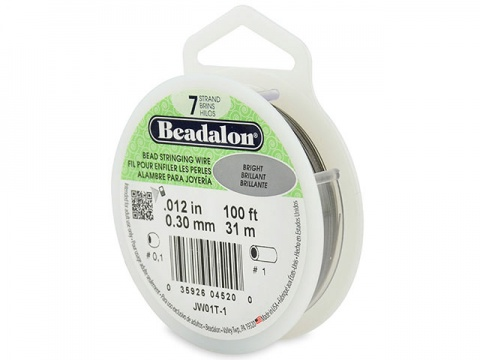 Beadalon 7 Strand Stringing Wire 0.012'' (0.30mm) - Bright - 100 Feet