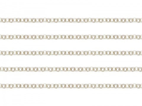 Sterling Silver Round Rolo Chain 1.5mm  ~ Offcuts