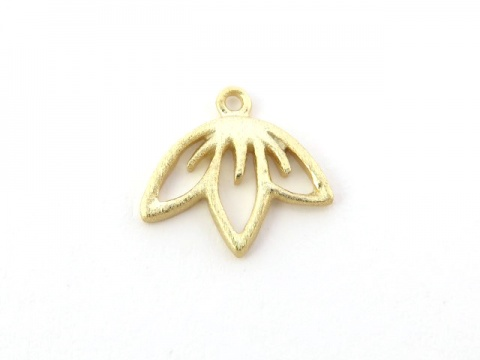 Gold Vermeil Cherry Blossom Charm 10mm