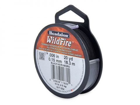 Beadalon Wildfire 0.006'' (0.15mm) - Black - 18 metres