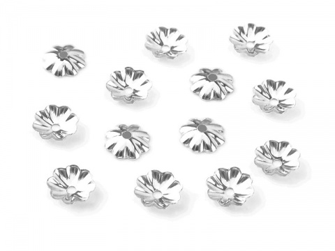 Sterling Silver Flower Bead Cap 3mm