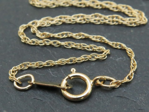 Gold Filled Rope Chain Necklace with Spring Clasp ~ 18''