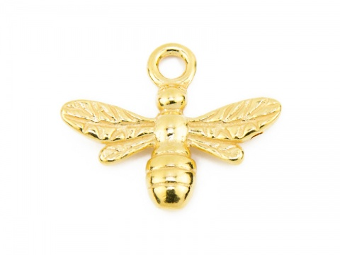 Gold Vermeil Bee Pendant 13mm