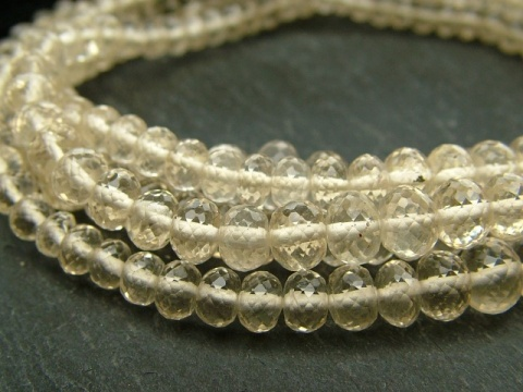 AA+ Scapolite Micro-Faceted Rondelles~ Various Sizes ~ 8'' Strand