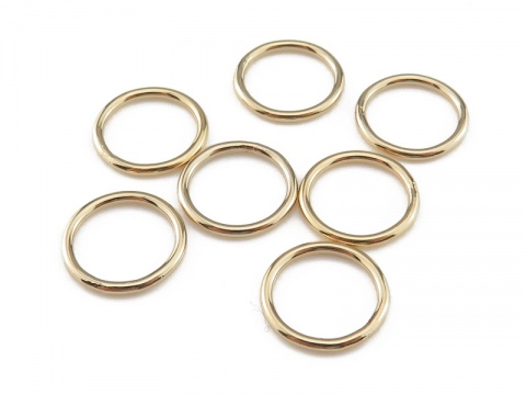 Gold Filled Closed Jump Ring 10mm ~ 18ga