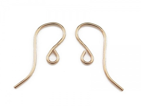 Gold Filled Plain Ear Wire ~ PAIR