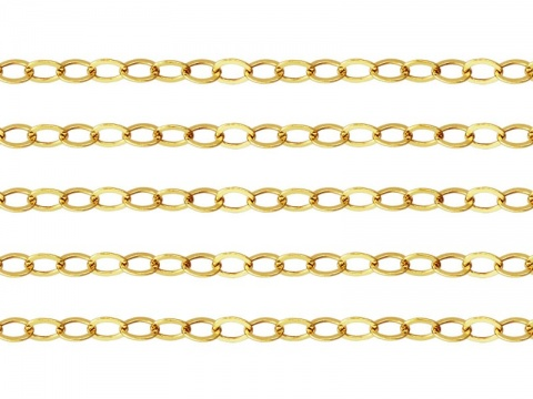 Gold Filled Flat Cable Chain 3 x 2.2mm ~ Offcuts