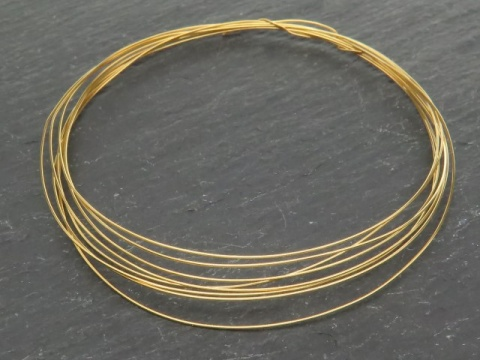 Gold Vermeil Wire ~ 24 gauge (0.5mm) ~ Soft ~ Round ~ 5ft