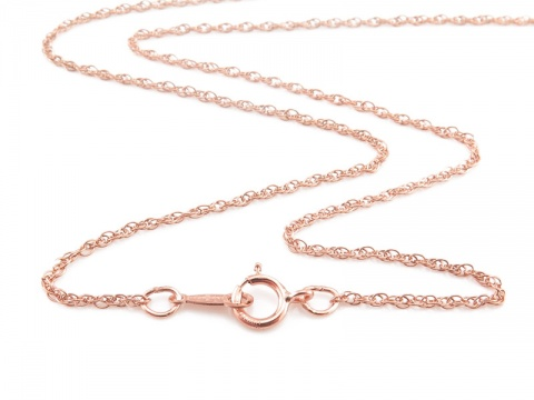 Rose Gold Filled Rope Chain Necklace with Spring Clasp ~ 16''