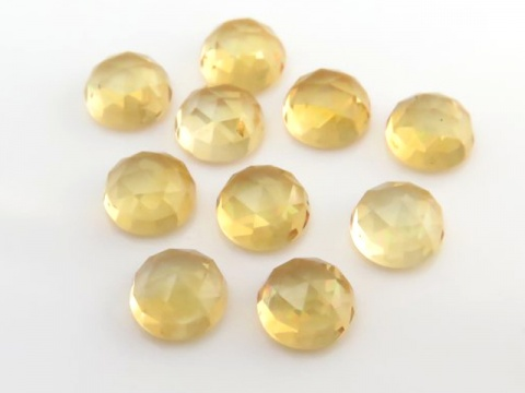 Citrine Round Rose Cut Round Cabochon ~ Various Sizes