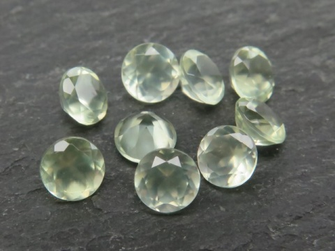 Prehnite Faceted Round ~ Various Sizes