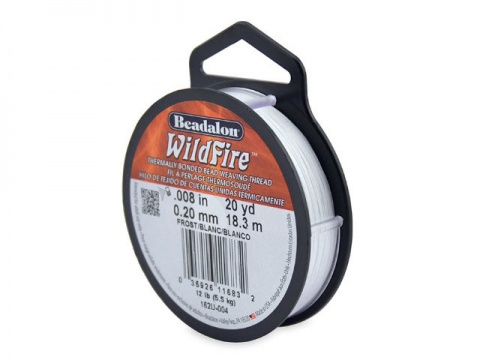 Beadalon Wildfire 0.008'' (0.20mm) - Frost - 18 metres