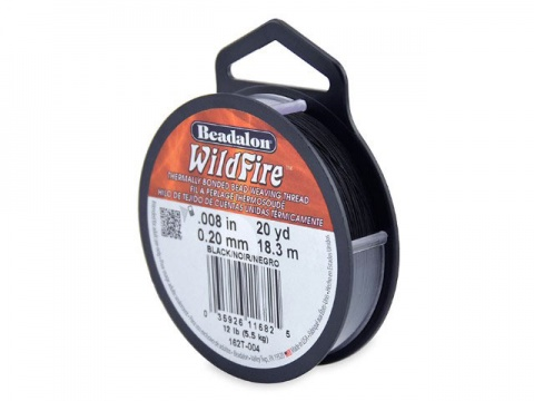 Beadalon Wildfire 0.008'' (0.20mm) - Black - 18 metres
