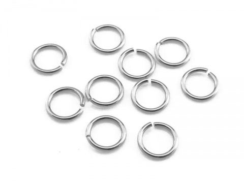 Sterling Silver Open Jump Ring 4mm ~ 24ga ~ Pack of 10