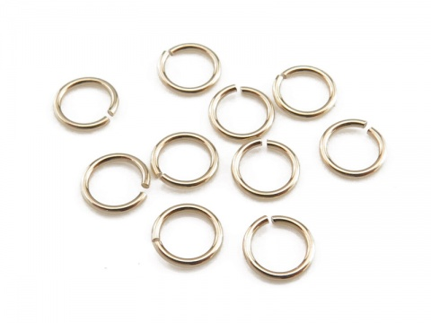 Gold Filled Open Jump Ring 4mm ~ 24ga ~ Pack of 10