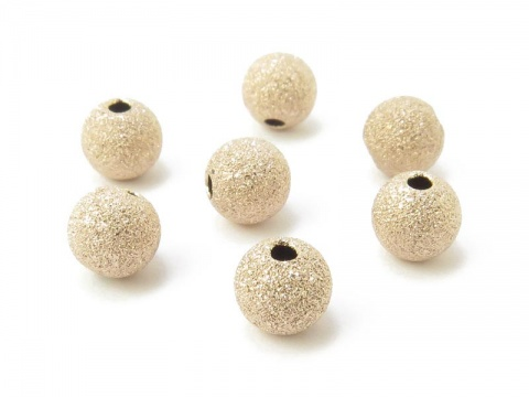 Gold Filled Frosted Bead 6mm