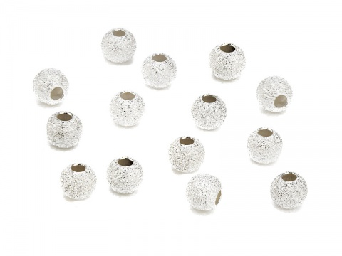 Sterling Silver Stardust Bead 6mm