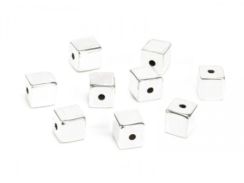 Sterling Silver Square Bead 6mm
