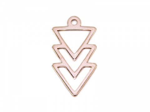 Rose Gold Vermeil Triangles Pendant 16mm