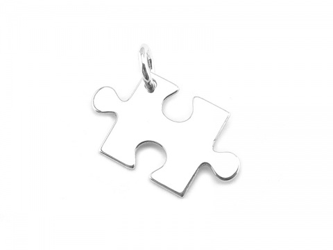 Sterling Silver Jigsaw Pendant 19mm
