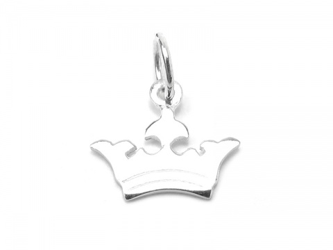 Sterling Silver Crown Pendant 10.5mm