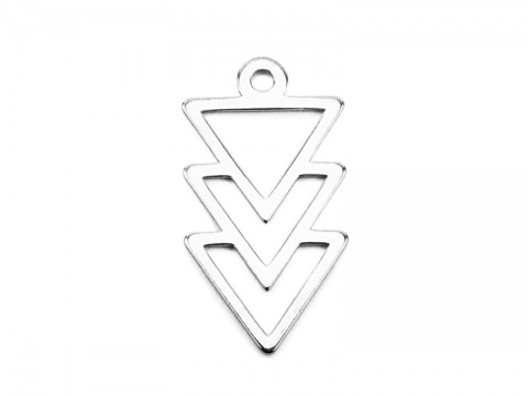 Sterling Silver Triangles Pendant 16mm