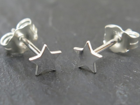 Sterling Silver Star Ear Studs ~ PAIR