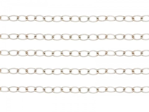 Sterling Silver Cable Chain 3 x 2.2mm ~ Offcuts