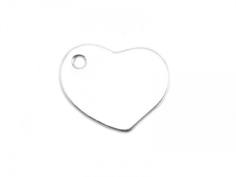 Sterling Silver Heart Charm 9mm